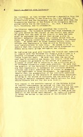 Report on the Arts Council's meeting with the Taoiseach, Seán Lemass, 31 October 1960.